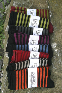 Socks with rolled Edge