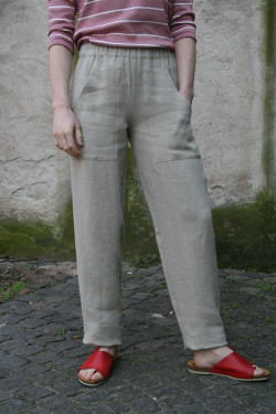 Elasticated Linen Trousers