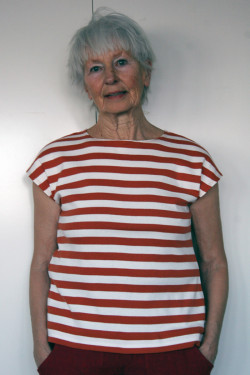 Top with wide stripes