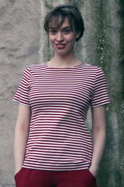 T-shirt narrow-striped
