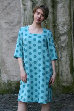 Linen dress Dot  A-shaped