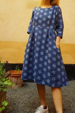 Linen dress with Dots
