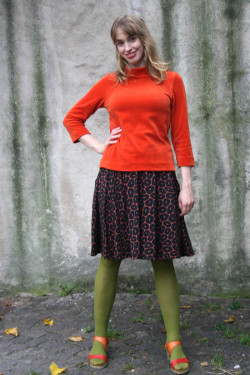 Cotton skirt Coral