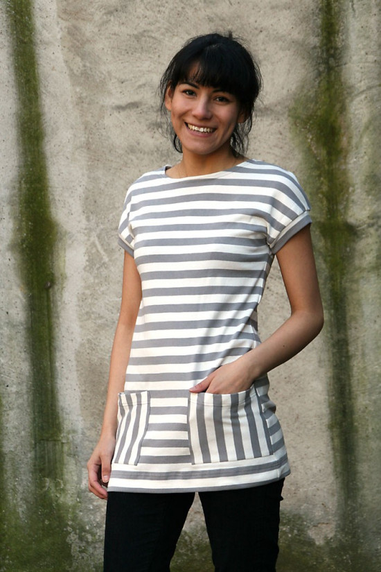 Cap Sleeves Tunic with pockets