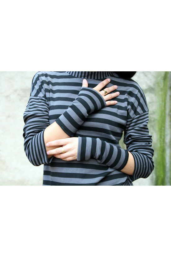 Wristwarmers Ribbed Cotton Long