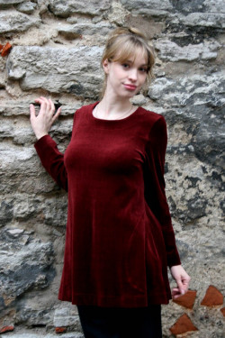Tunic veloure loose fit