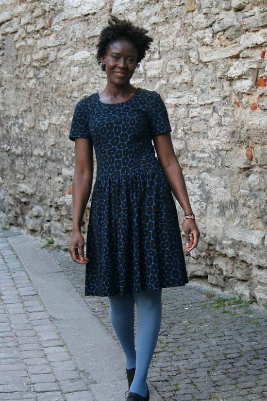Dress Coral short sleeve
