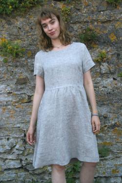 Linen dress, melange